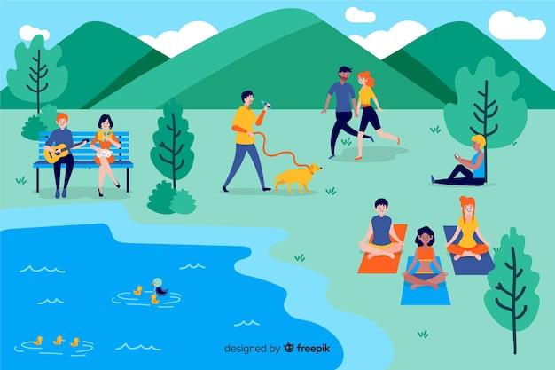 Personas en el parque