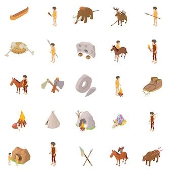 Personas del pasado conjunto de iconos