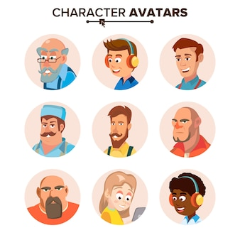 Personas personajes avatares establecidos.