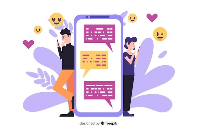 Personas que buscan amor en la aplicación de citas