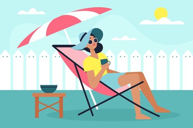 Personas que disfrutan de vacaciones
