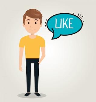 Personas que hablan la comunicación del habla