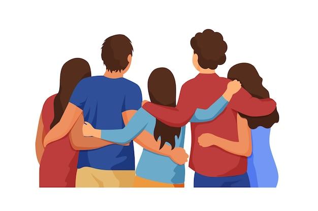 Personas que pasan tiempo juntas evento del día de la juventud