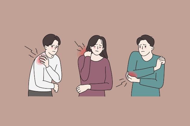 Personas que sufren lesiones corporales o traumas.