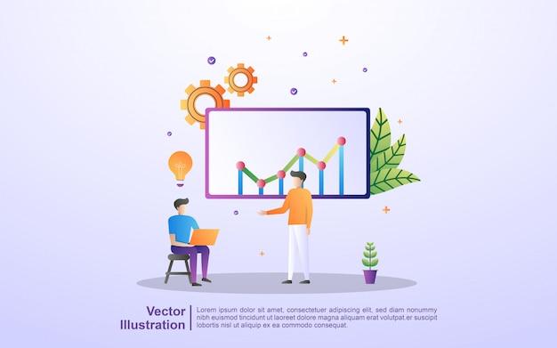 Las personas que tienen ideas, los equipos interactúan, los equipos resuelven problemas en los negocios, las soluciones comerciales
