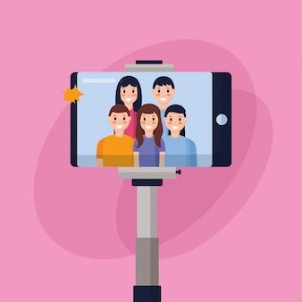 Las personas que toman selfie