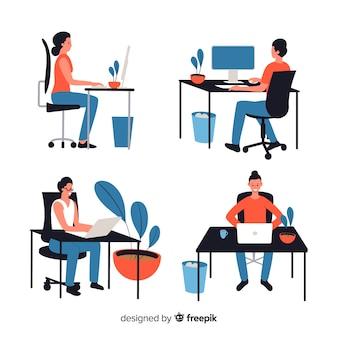 Personas que trabajan en la oficina