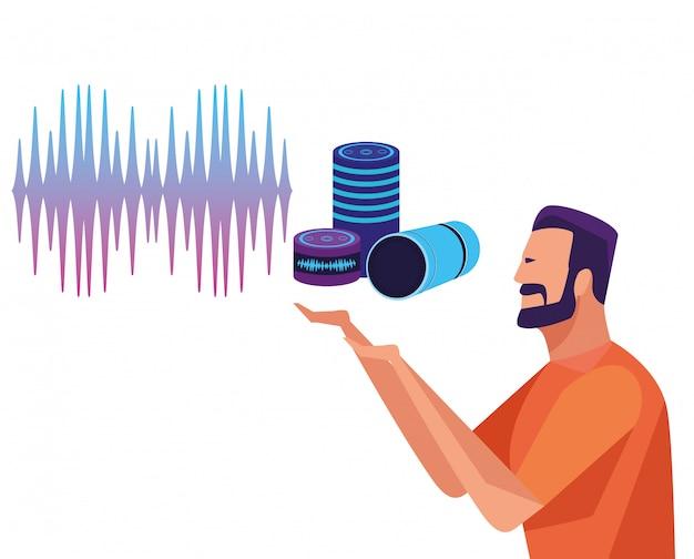 Personas que usan reconocimiento de voz.