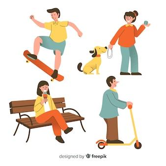 Personas realizando actividades al aire libre