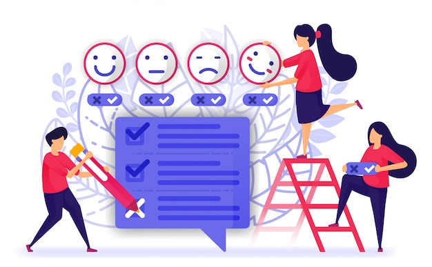 Las personas revisan y completan cuestionarios, encuestas o exámenes.