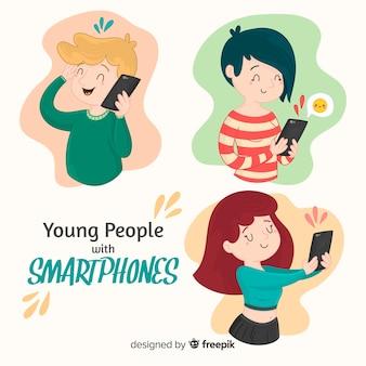 Personas con smartphones