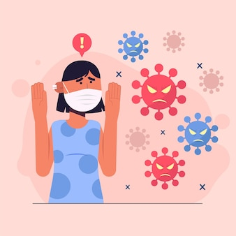Personas temerosas de la enfermedad por coronavirus