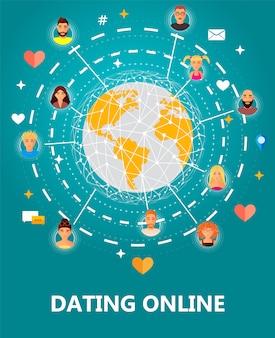 Personas en todo el mundo conectando juntas