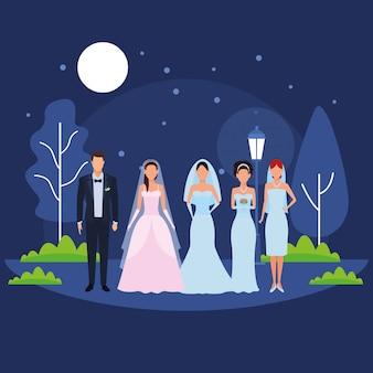 Personas vestidas para boda