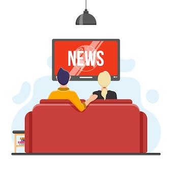 Personas viendo las noticias