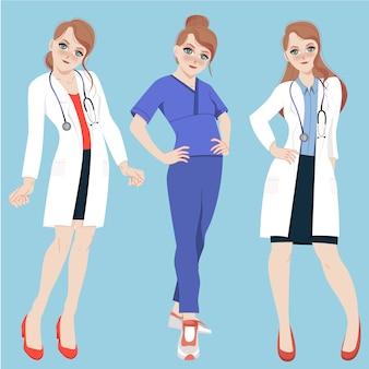 Personjes médicos femeninos