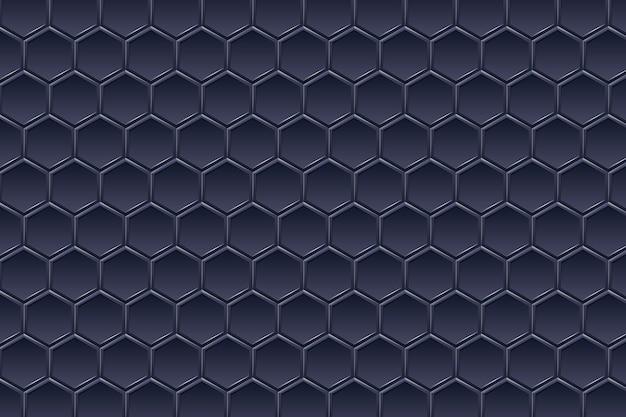 Perspectiva futurista paisaje gran angular hexagonal