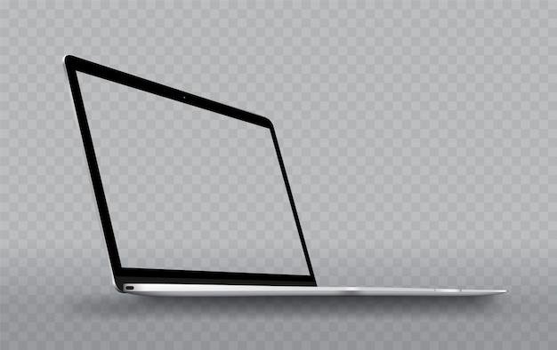 La perspectiva del ordenador portátil es transparente.