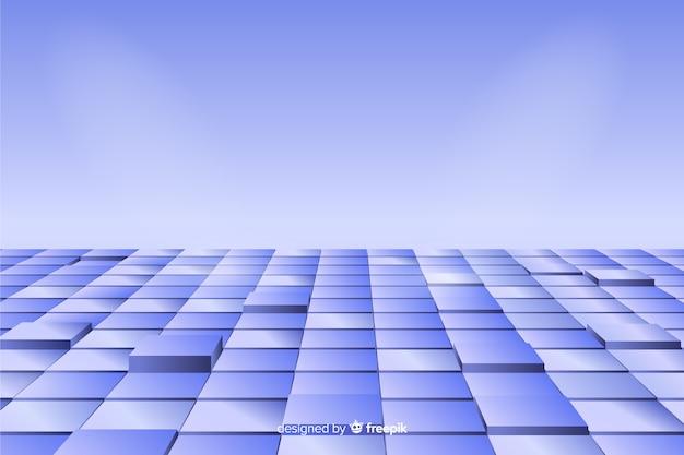 Perspectiva realista cubos piso fondo