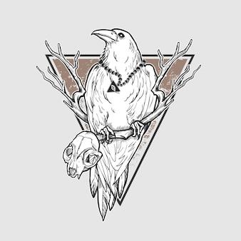 Pesadilla de cuervo de halloween