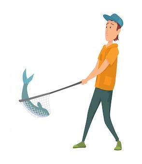 Pescador plano