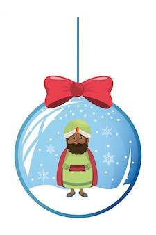 Pesebre navideño de dibujos animados
