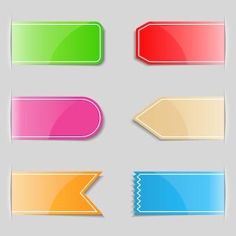 Pestañas de colores