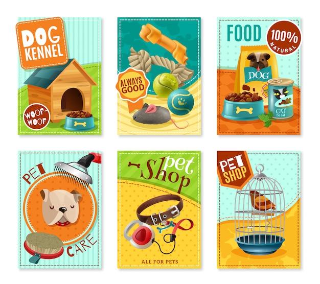 Pet care 6 mini banners set