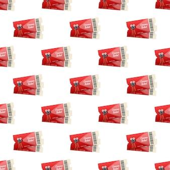 Pettern de boleto de espectáculo rojo realista. ilustración vectorial.