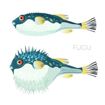 Pez japonés de pescado fugu