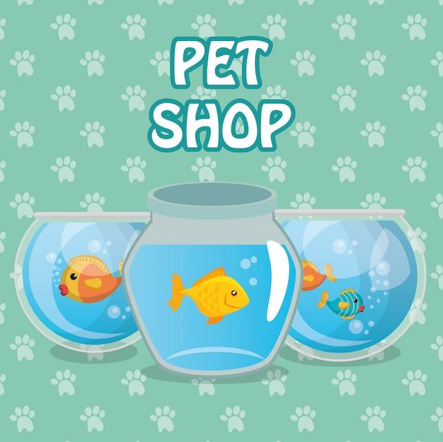Pez mascota en acuario
