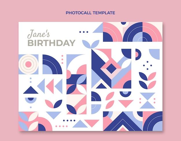 Photocall de cumpleaños de mosaico plano