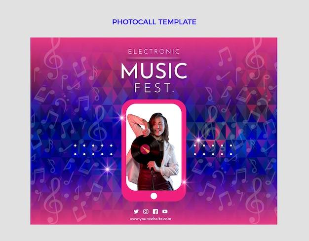 Photocall del festival de música degradado