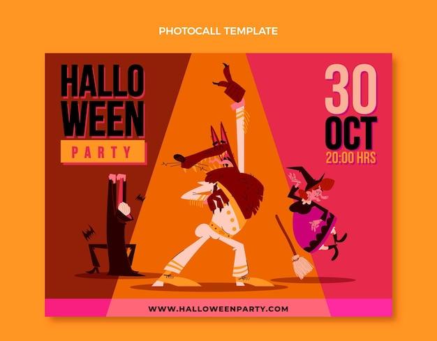 Photocall de halloween de diseño plano