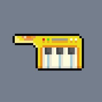 Piano de mano con estilo pixel art