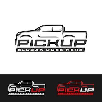Pick up truck, plantilla de logotipo de camión