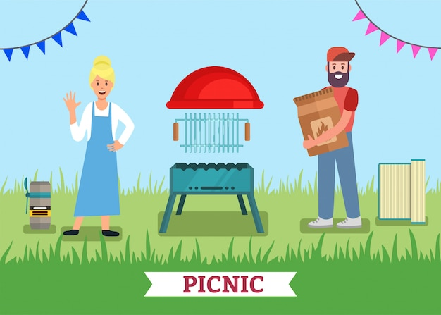 Picnic para dos publicidades bbq grill shop