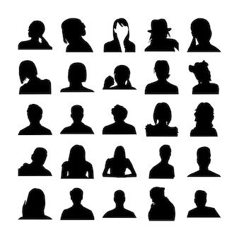 Pictograma de poses de rostro humano