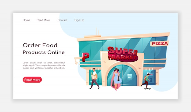 Pide productos alimenticios en línea