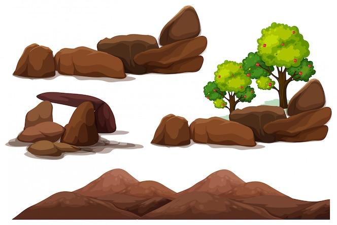 Piedra de roca y elemento de montaña