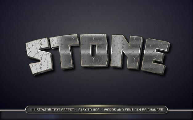 Piedra: estilo de efecto de texto editable