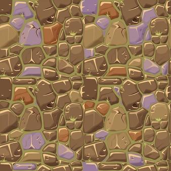 Piedra sobre fondo de textura de hierba de patrones sin fisuras