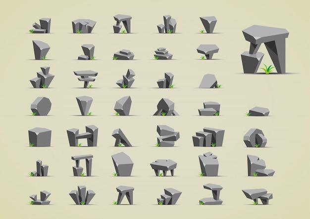 Piedras con pasto