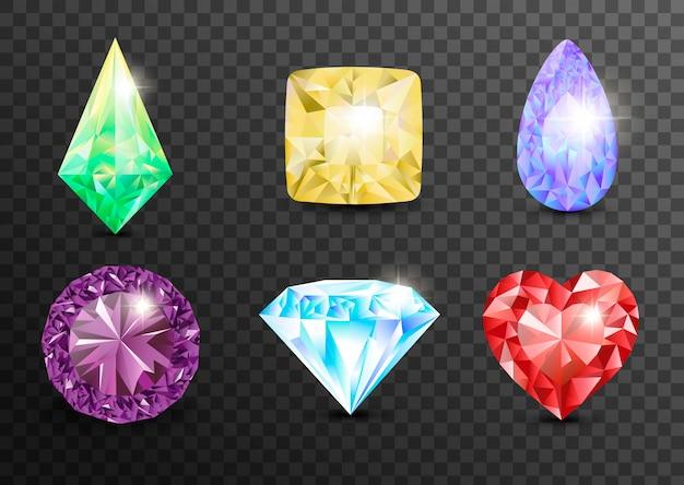 Piedras preciosas y gemas, joyas. diamantes de imitación y brillantes, zafiro y amatista, aguamarina y turmalina, diamantes y esmeraldas, joyas de cuarzo y rubí, ágata. joyas de gemas
