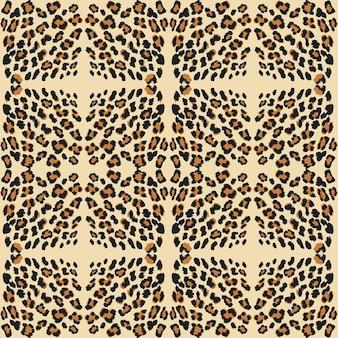 Piel con estampado de leopardo.