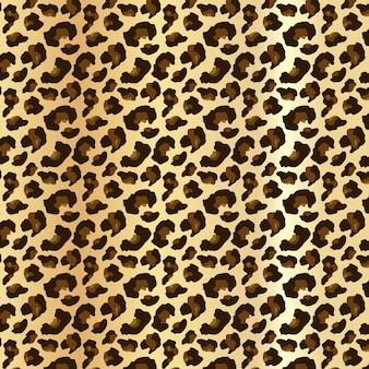 Piel de leopardo en patrones sin fisuras editables