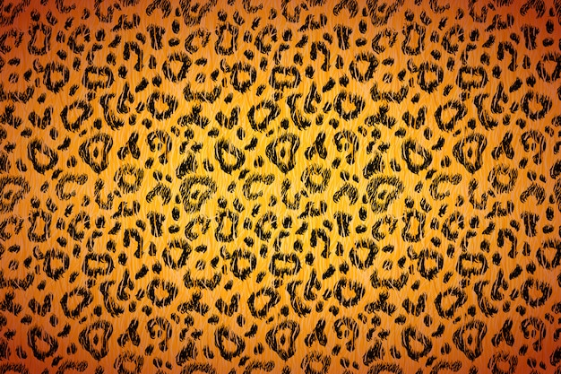 Piel de leopardo realista brillante con manchas negras