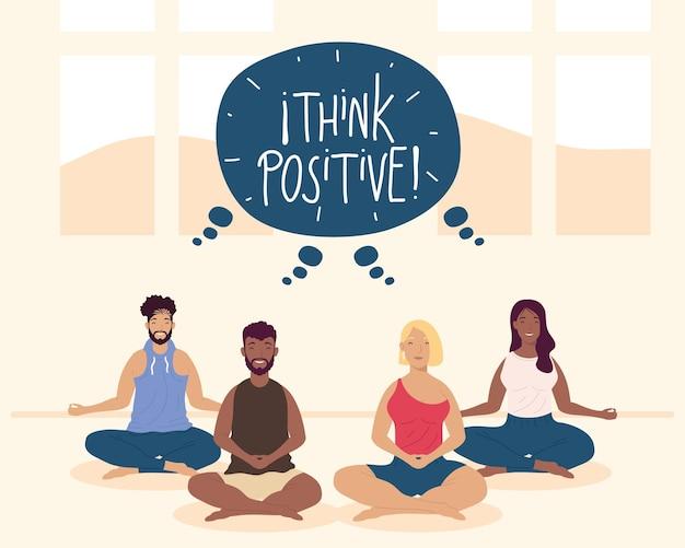 Piensa en actitud positiva