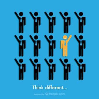 Piensa diferente, vector de negocios