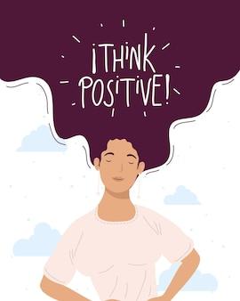 Piensa en inscripción positiva